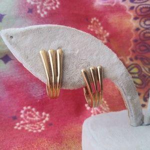 Avon Signed Gold Clip On Earrings
